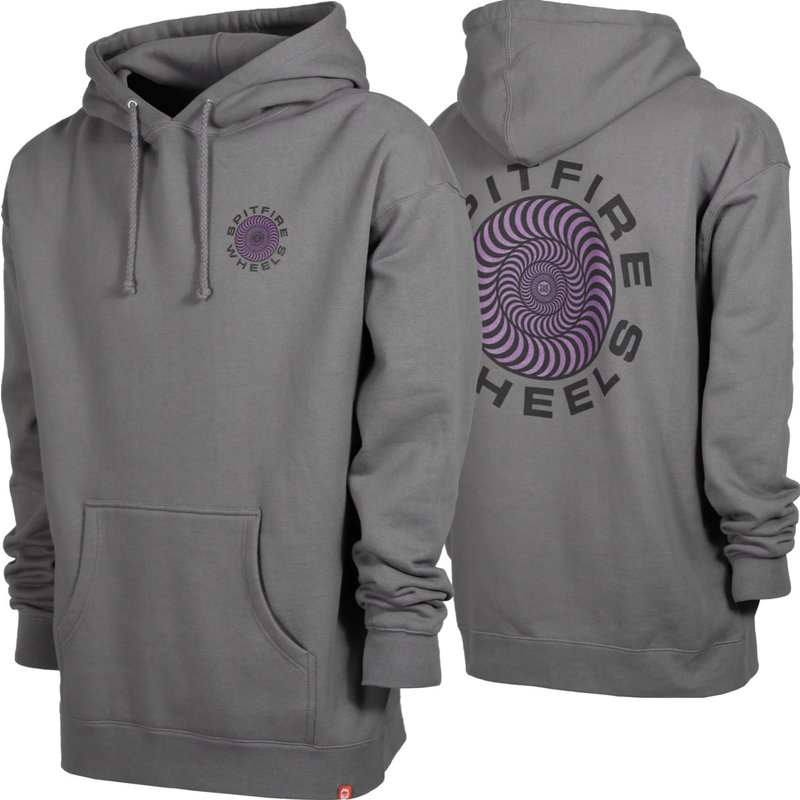 Spitfire Spitfire - Classic Swirl Charcoal Heather Hoodie