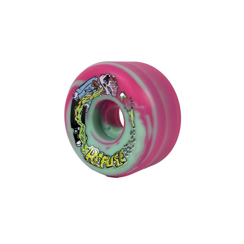 Pushfoot Refuse - 60 green/pink  swirl 101a