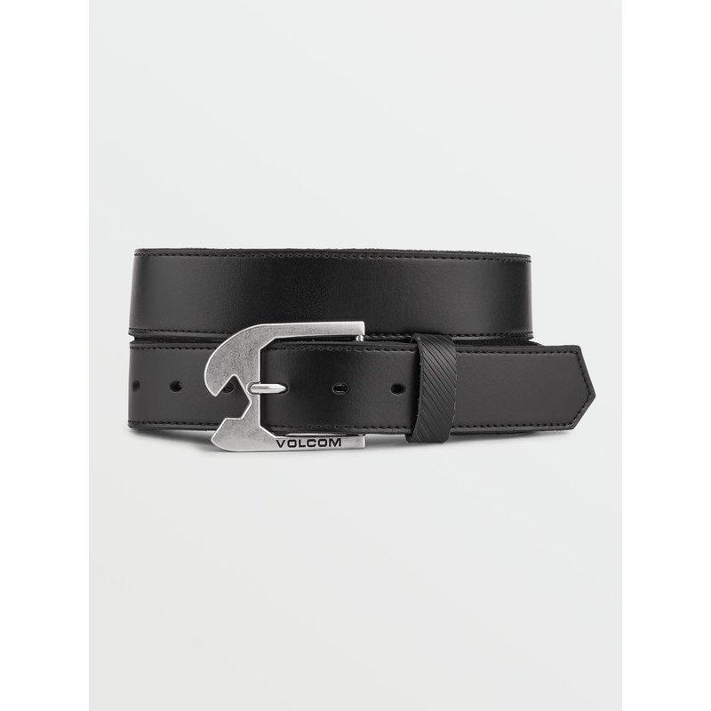 Volcom Volcom - Skully Leather Belt - Black