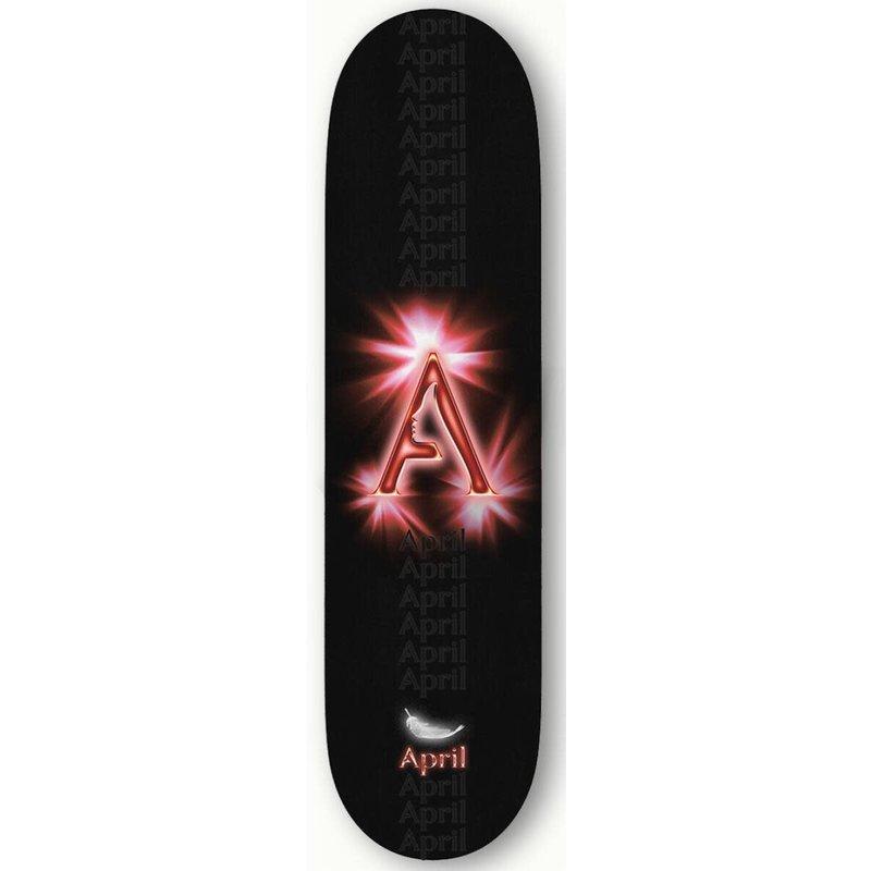 April April - 8.125 RED BLACK LOGO