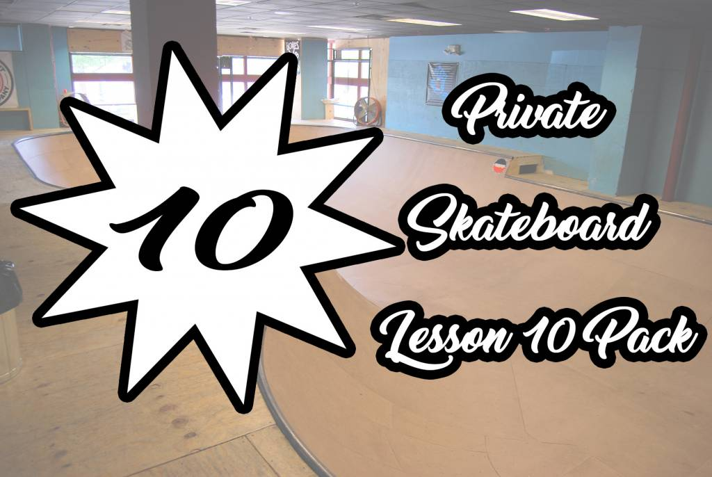 Private Skateboard Lesson 10 Pack