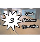 Private Skateboard Lesson 3 Pack