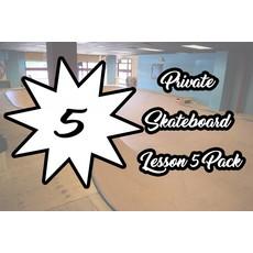 Private Skateboard Lesson 5 Pack