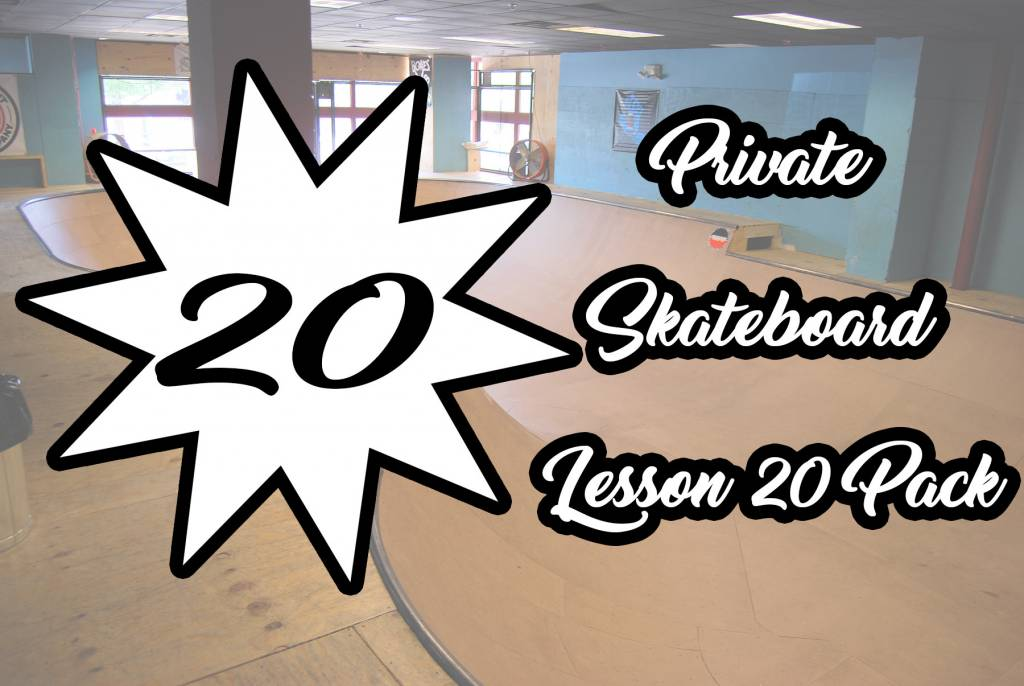 Private Skateboard Lesson 20 Pack