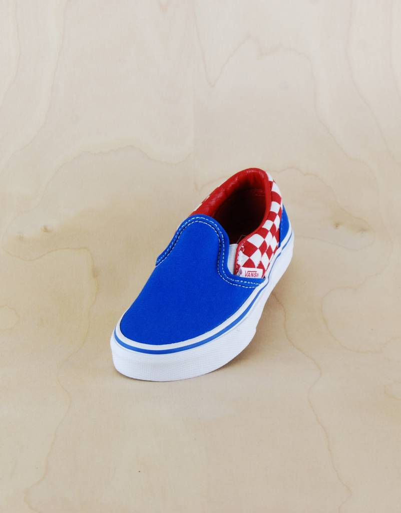 Vans Vans - Classic Slip-On Checkerboard Blue White Red - The Point ... 788e515974a4