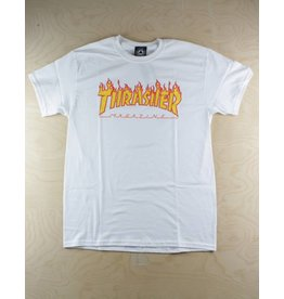 Thrasher Thrasher - Flame Tee White