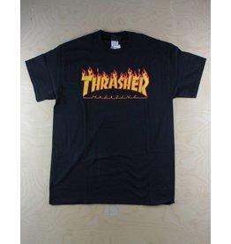 Thrasher Thrasher - Flame Tee Black