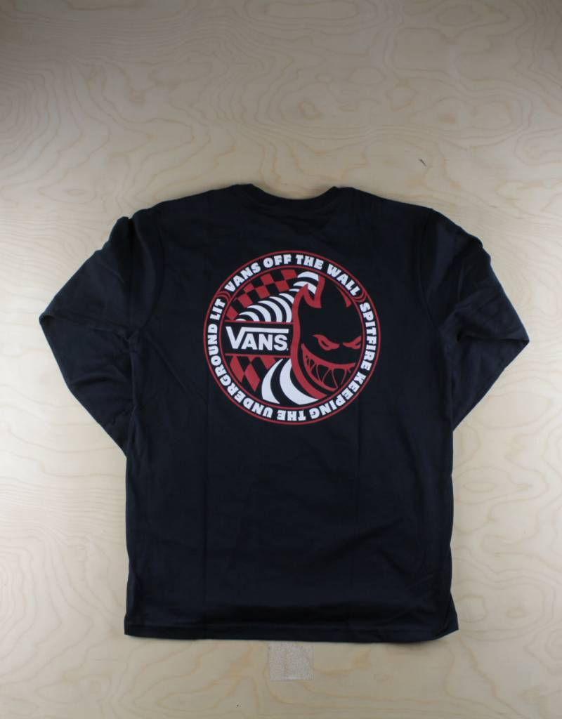 0d1365dd37 Vans - Spitfire Youth Tee Black - The Point Skate Shop - The Point ...