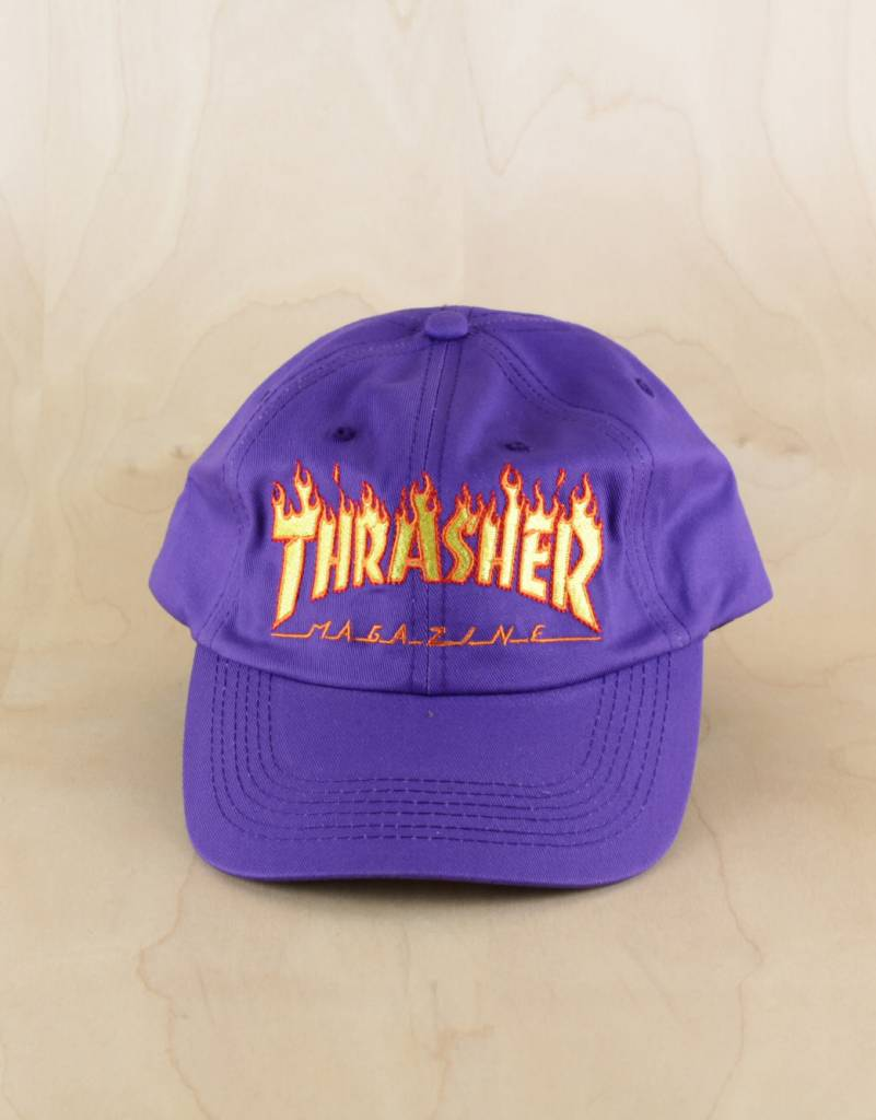 545c1c54fd930 Thrasher - Flame Old Timer Hat - The Point Skate Shop - The Point ...