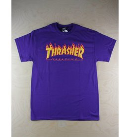 Thrasher Thrasher - Flame Logo Purple