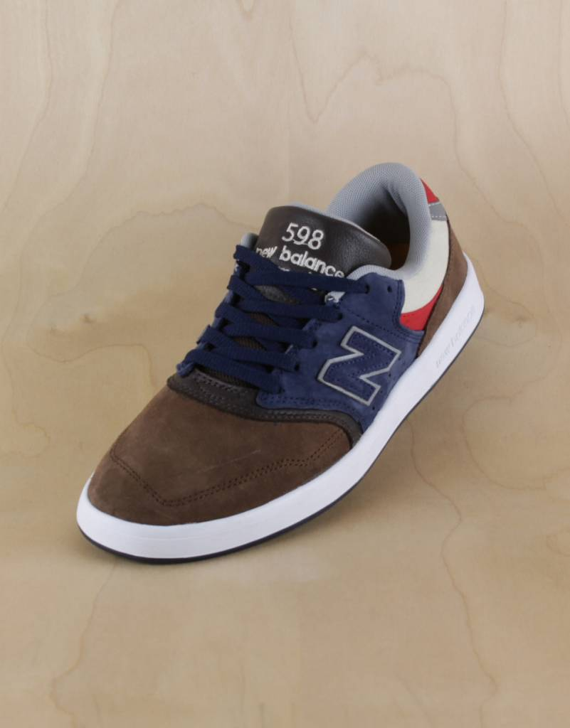 New Balance 598 Brown Navy The Point Skate Shop