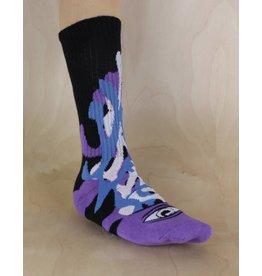 Toy Machine Toy Machine - Barf Sect Sock Multi Purple