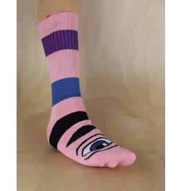 Toy Machine Toy Machine - Sect Eye Big Stripe Sock Pink