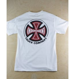 Independent Indy - 2 Color T/C Regular T-Shirt White/Red