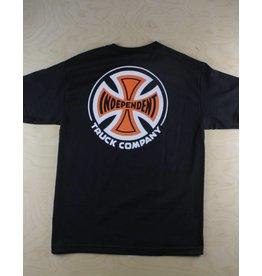 Independent Indy - 2 Color T/C Regular T-Shirt Black/Orange