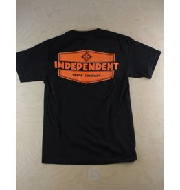 Independent Independent - Industry S/S Regular T-Shirt Black/Orange