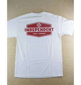 Independent Independent - Industry S/S Regular T-Shirt White/Red