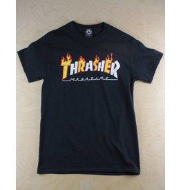 Thrasher Thrasher - Flame Mag S/S T-Shirt Black