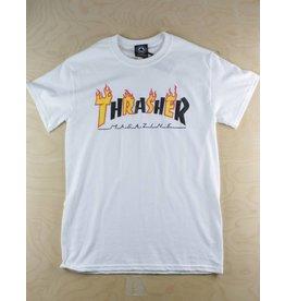 Thrasher Thrasher - Flame Mag S/S T-Shirt White