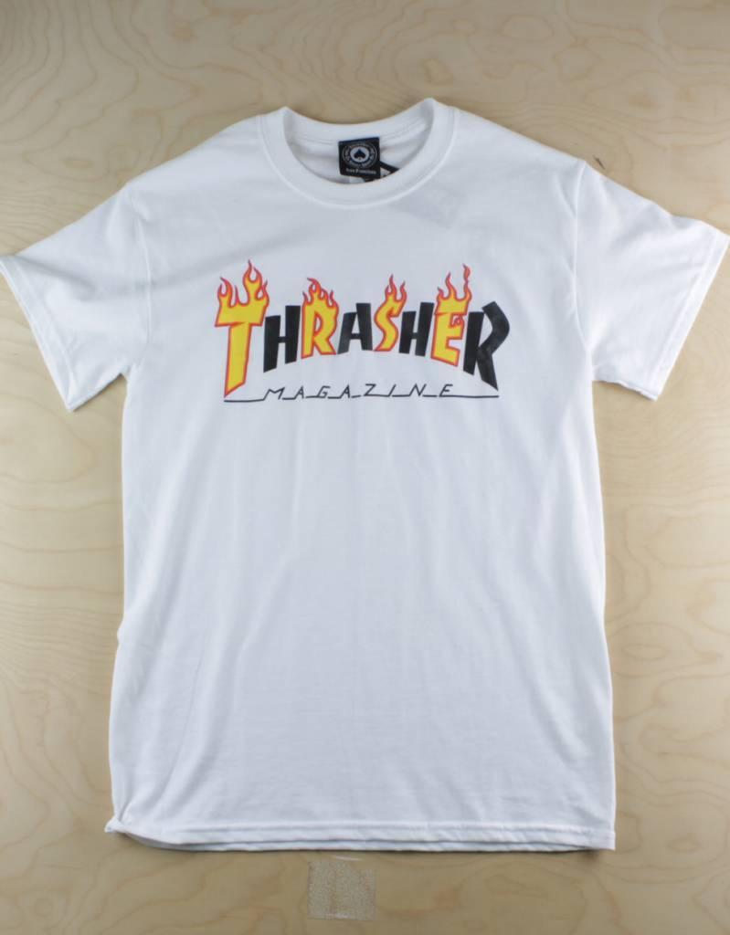 062f5801b Thrasher - Flame Mag S/S T-Shirt White