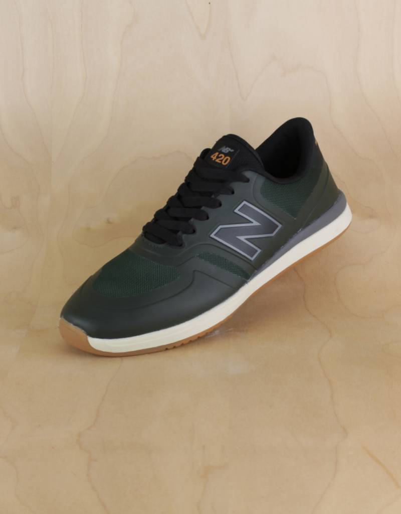 b41f00f4d21 New Balance - 420 Dark Green/Tan - The Point Skate Shop