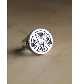 Thrasher Thrasher - Pentagram Cross Ring Silver