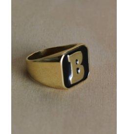 Baker Baker - Capital B Ring Gold/Black