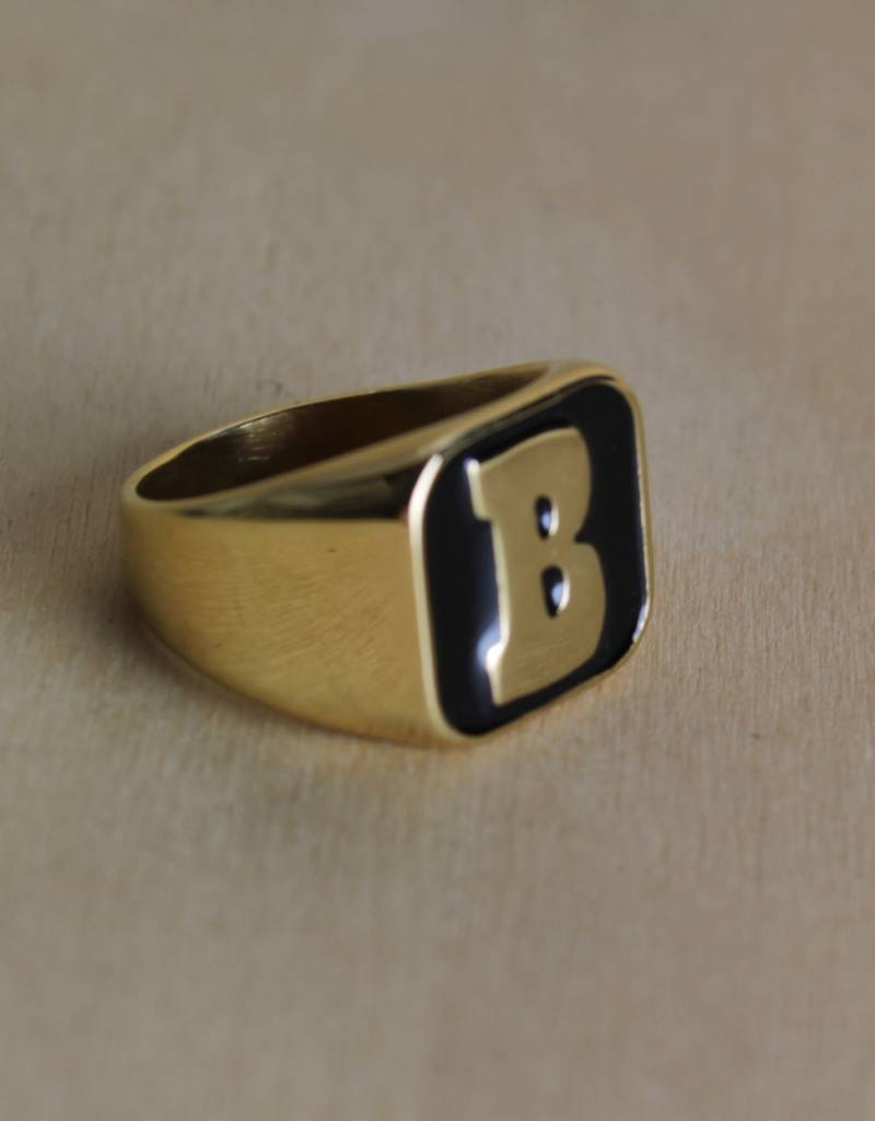 Baker Baker - Capital B Ring Gold/Black