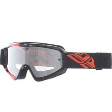 INV FLY GOGGLE ZONE BLK/ORG CLEAR/ FLASH CHROME LENS