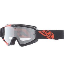 INV FLY GOGGLE ZONE YTH BLK/ORG CLEAR/ FLASH CHROME LENS