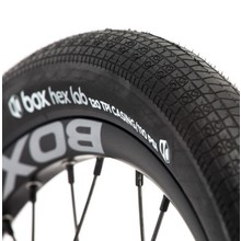 "BOX INV BOX Components Hex Lab Race Tire 20"" x 1.75"" 110 PSI 120TPI Folding Bead Black"