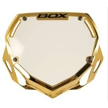 BOX BOX Two Number Plate Small Gold Chrome