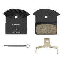 Shimano INV Shimano J02A Resin Disc Brake Pads and Spring with Fins, for XTR BR- M9020, XT BR-M8000, SLX BR-M675 Calipers