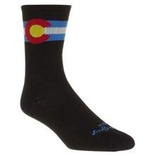 SockGuy Colorado SGX6 socks, black - 5-9