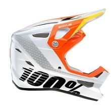 100% INV Status Full-Face Youth Helmet: D-Day White LG