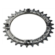 RaceFace Narrow-Wide Chainring: Direct Mount Cinch, 30t Black