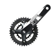 SR Suntour XCM-D Crankset: 10-speed 36/22t, 175mm Octalink, Black