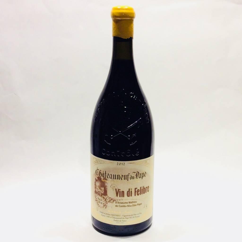 """Domaine Mathieu - Chateauneuf Du Pape """"Vin di Felibre"""" 2012 (1.5 L)"""