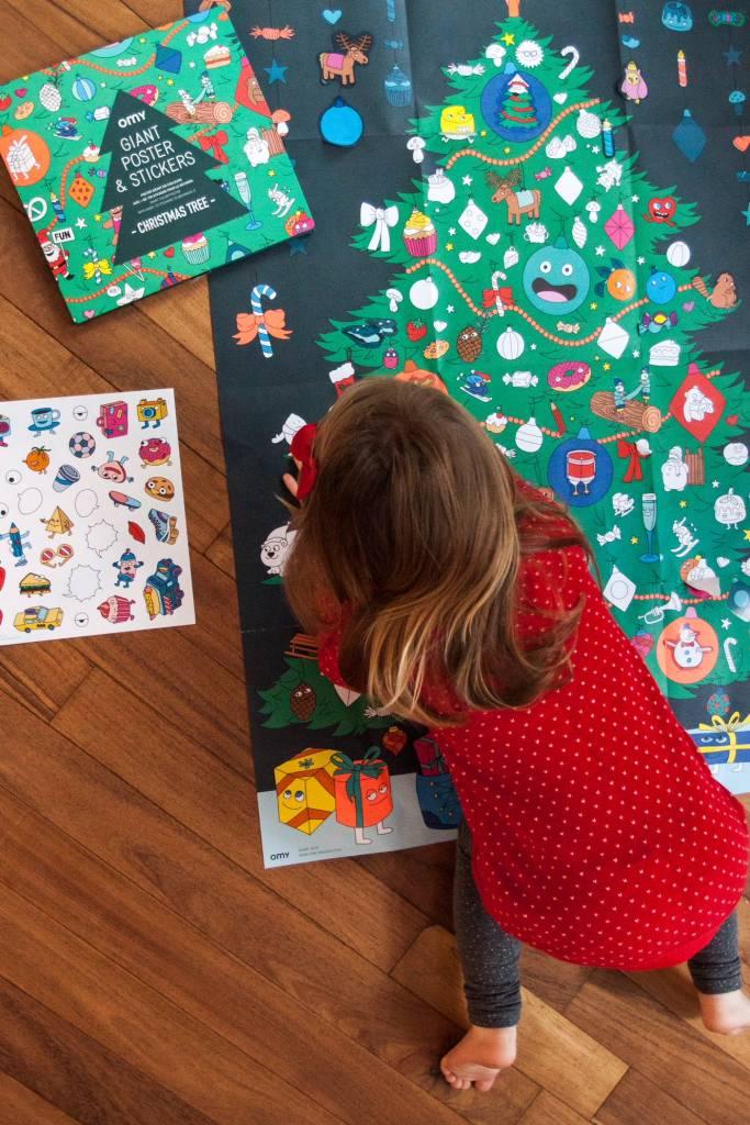 Product Spotlight: Omy Christmas Tree Sticker Poster