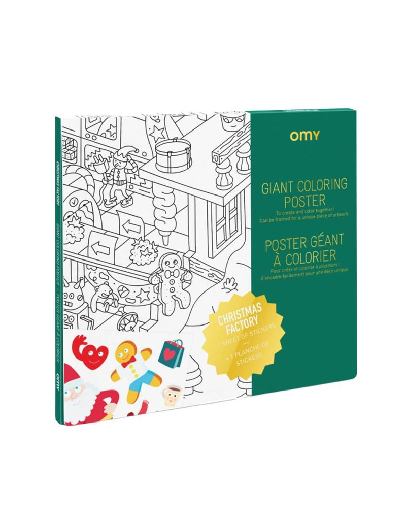 Omy - Holiday Coloring Poster