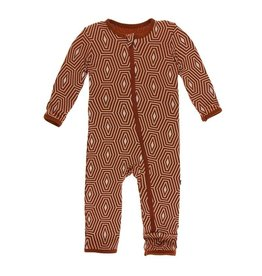 Kickee Pants Kickee Pants - Print Coverall with Zipper