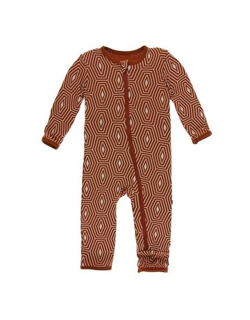 Kickee Pants - Print Coverall with Zipper