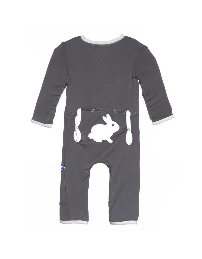 Kickee Pants Kickee Pants Holiday Layette Applique Coverall