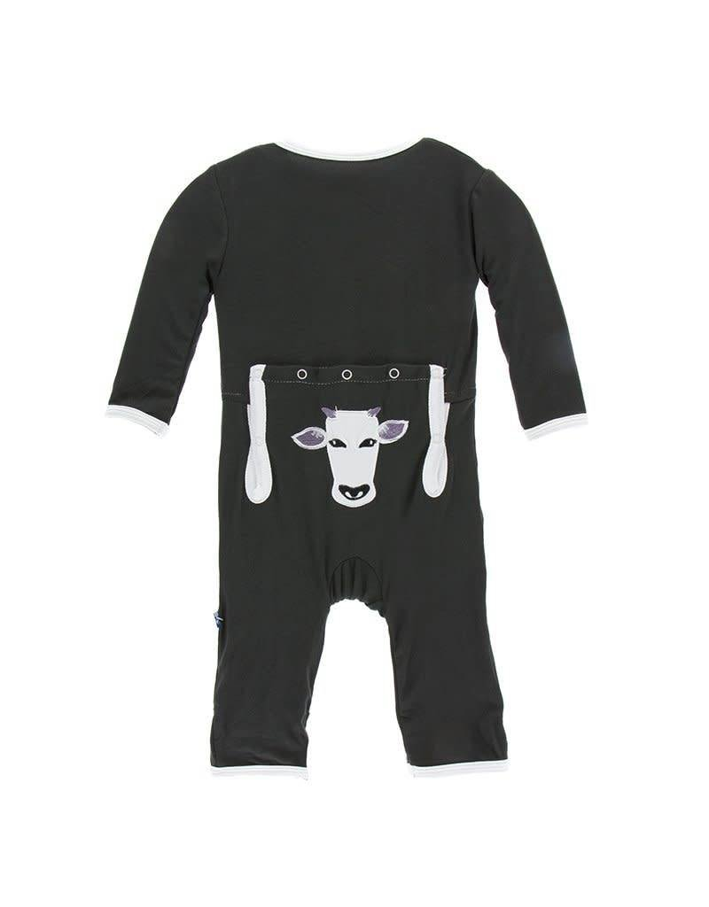 Kickee Pants Kickee Pants Applique Coverall with Snaps