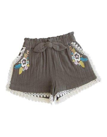 Lali Kids - Girls Embroidery Shorts