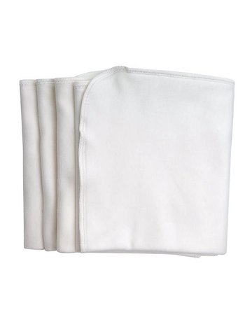 Under The Nile Burp Cloths White 4 Pack