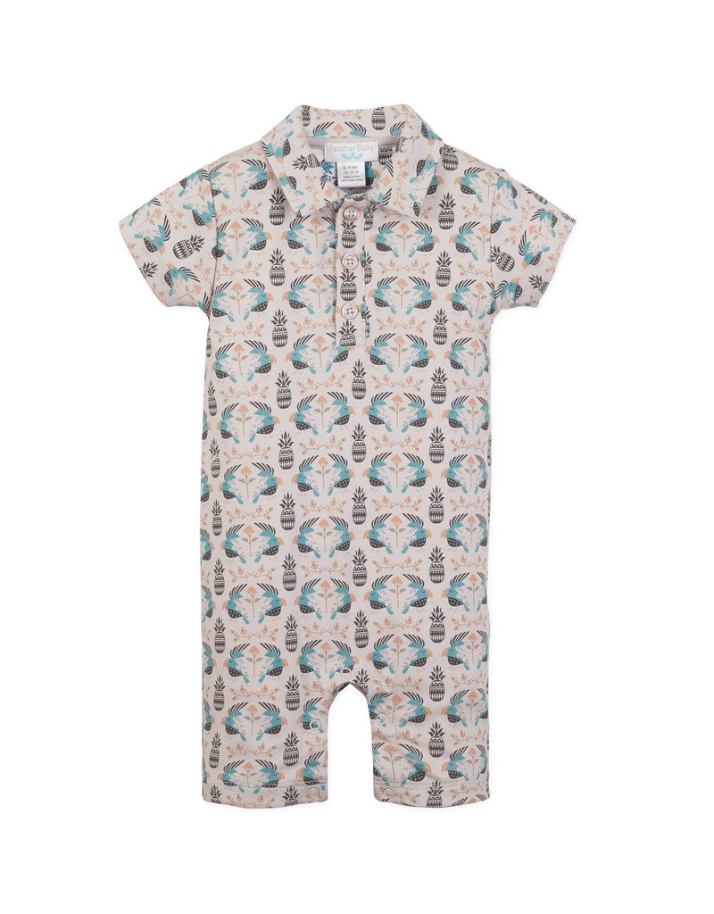 Feather Baby Feather Baby - Collared Romper