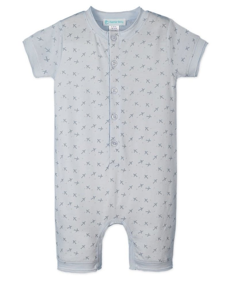 Feather Baby Feather Baby - Button Henley Romper