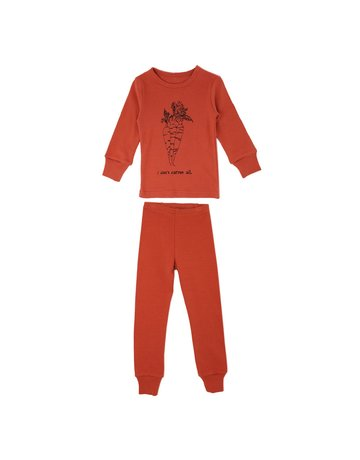 L'ovedbaby L'ovedbaby - Kids L/S PJ Set Maple Carrot 7