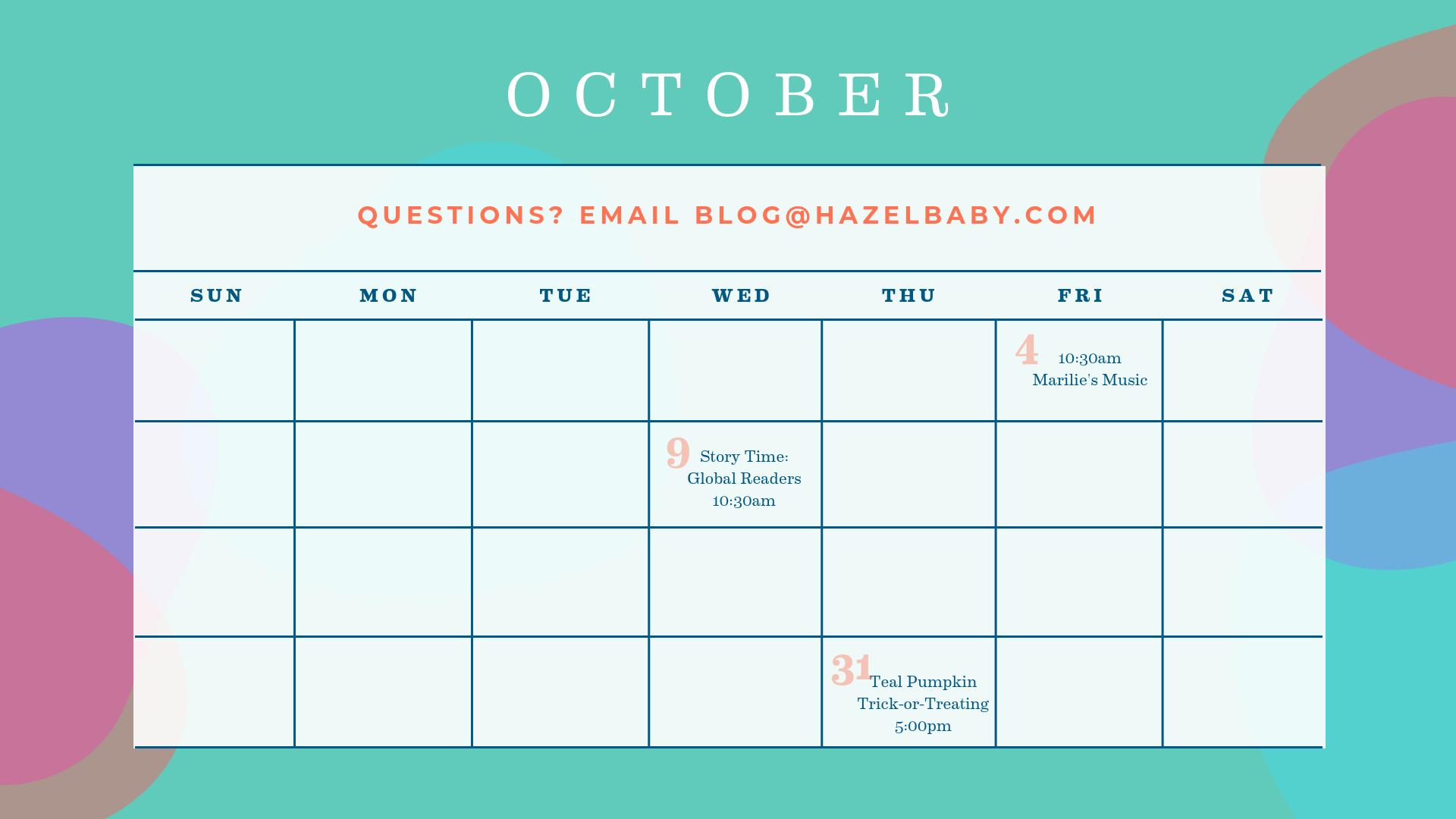 October Jersey city calendar of events